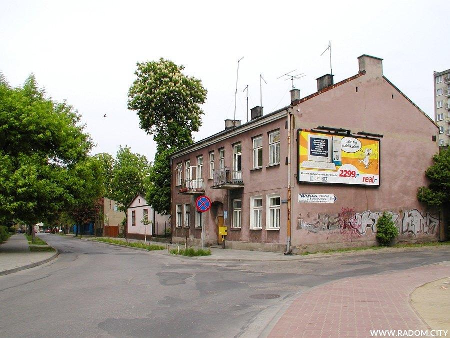 Radom. Skręt z ulicę Kilińskiego w ul. Staszica.
