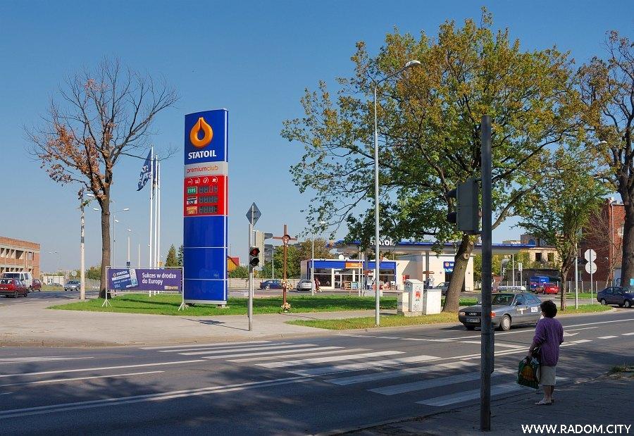 Radom. Stacja Statoil - Struga/Zbrowskiego.