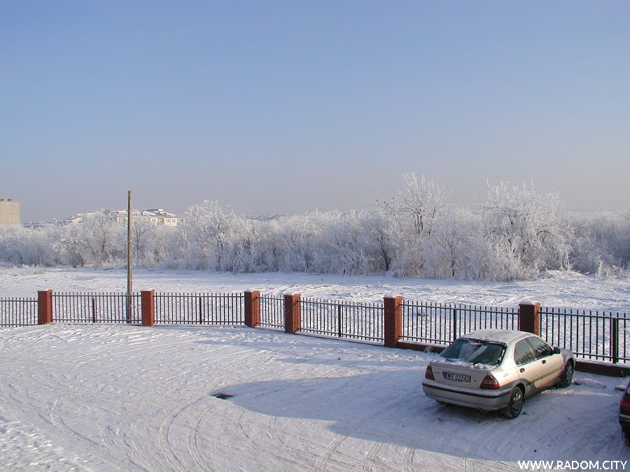 Radom. Widok ze schodów MDKu przy ulicy Daszyńskiego.