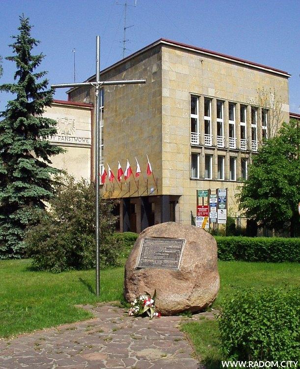 Radom. Pomnik Ofiar Komunizmu.