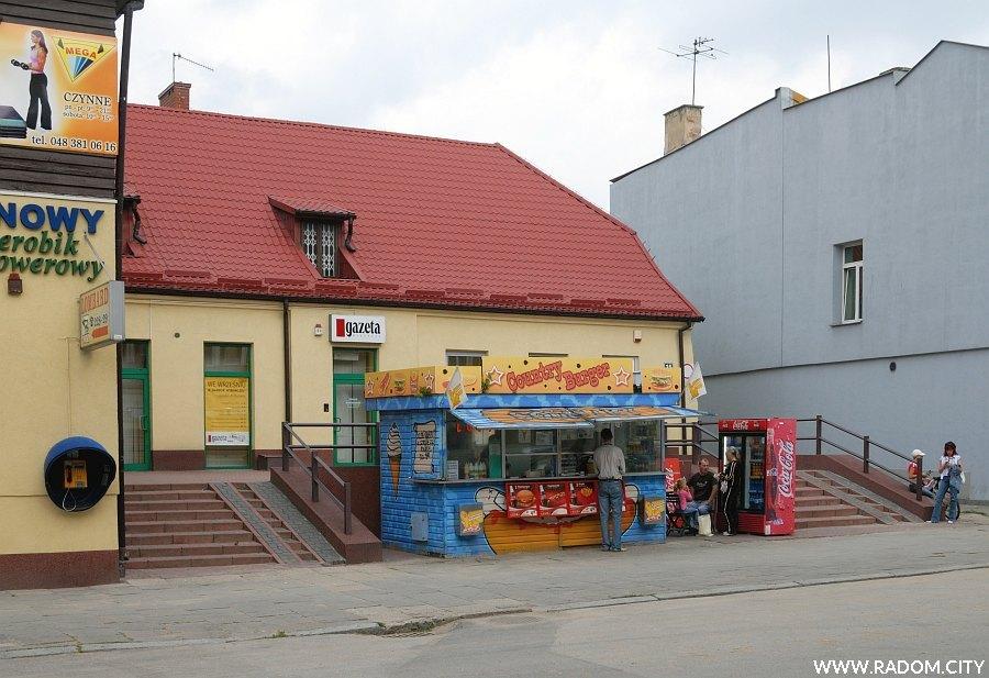 Radom. Ulica Stefana Zeromskiego, siedziba radomskiego oddziału Gazety Wyborczej.