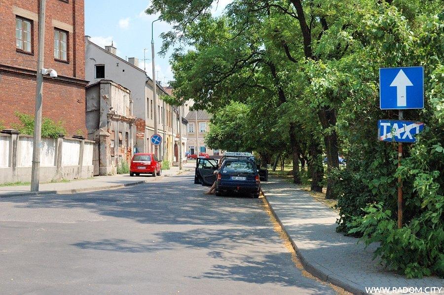 Radom. Ulica Grodzka, widok w stronę ul. Wałowej.