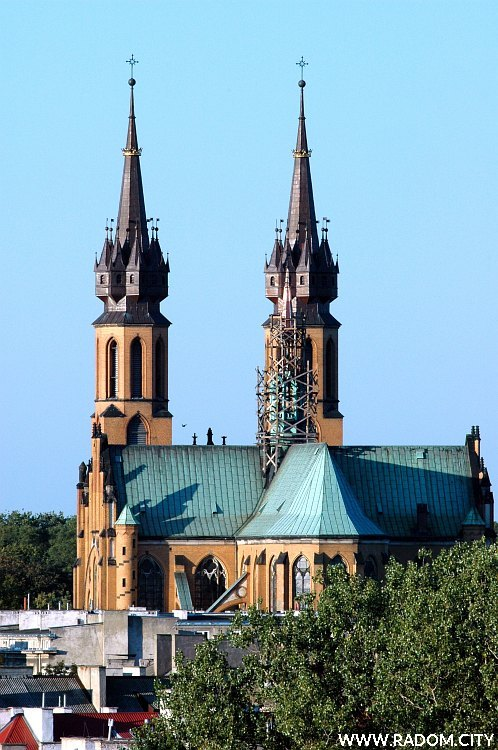 Radom. Katedra - widok od strony południowej.