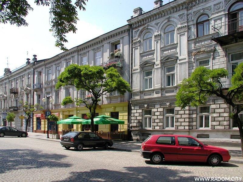 Radom. Ulica Józefa Piłsudskiego.