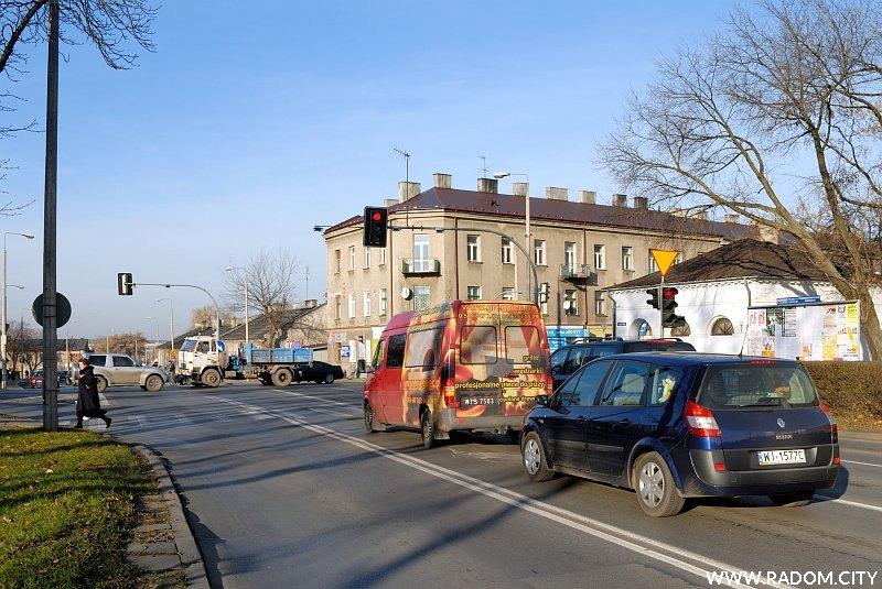 Radom. Skrzyżowanie ulic Kelles-Krauza i Malczewskiego.