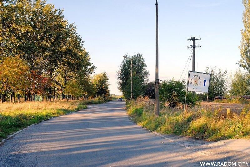 Radom. Ul. Rodziny Ziętalów, widok na północ ze skrzyżowania z ul. F. Zubrzyckiego.