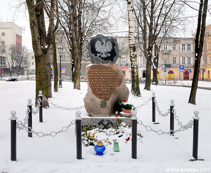 Radom. Pomnik żołnierzy-górników.
