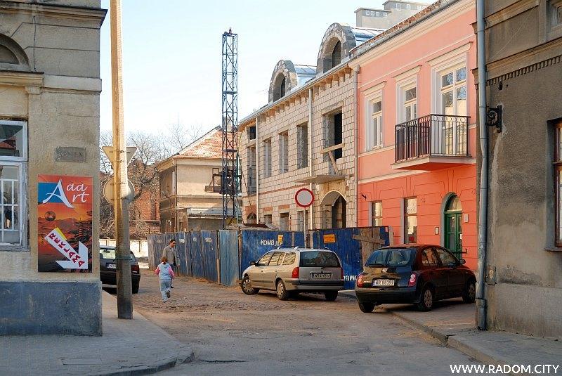 Radom. Ulica Grodzka widziana z Rynku.