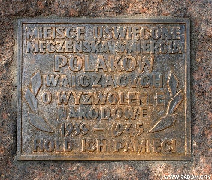 Radom. Pomnik przy ul. Warszawskiej.