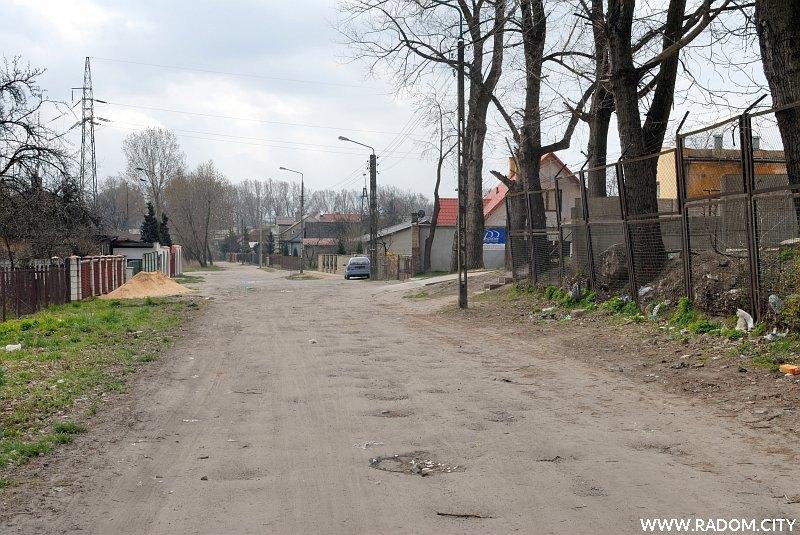 Radom. Ulica Marywilska, widok w kierunku ul. Gdańskiej