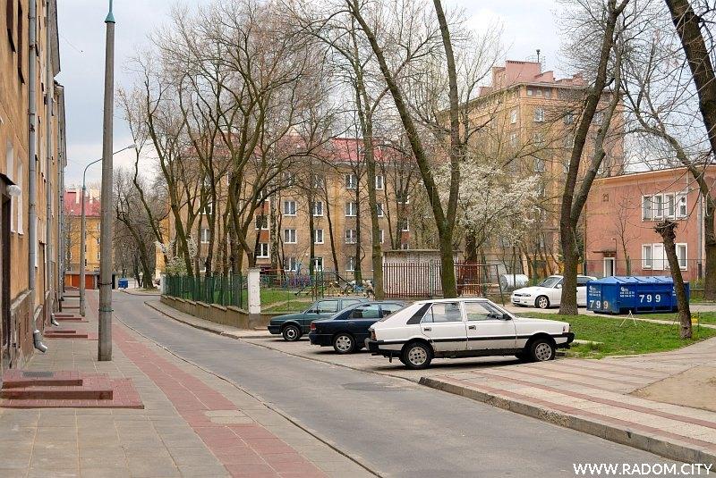 Radom. Ulica Osterwy od strony ul. Jaracza.