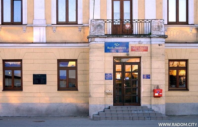 Radom. Budynek poczty przy ul. Malczewskiego.