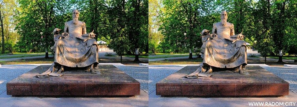 Radom. Pomnik Jana Kochanowskiego - zdjęcie 3d.
