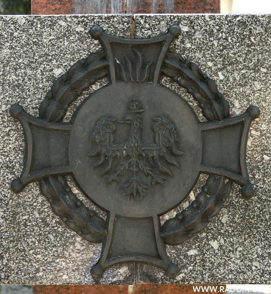 Radom. Pomnik Strażaków - fragment.