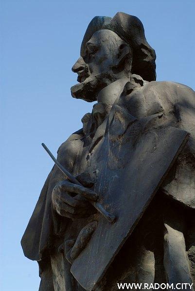 Radom. Pomnik Jacka Malczewskiego.