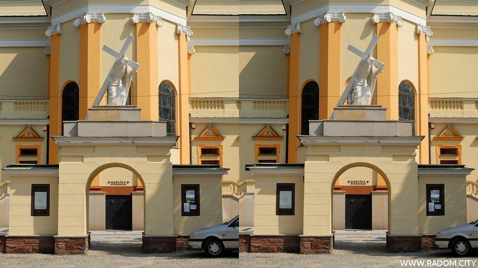 Radom. Kościół garnizonowy - zdjęcie stereoskopowe.