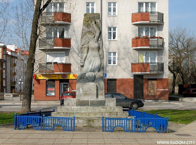 Radom. Pomnik przy ul. Podwalnej.
