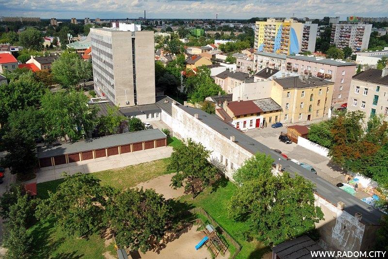 Radom. Widok z bloku przy ul. Niedziałkowskiego.