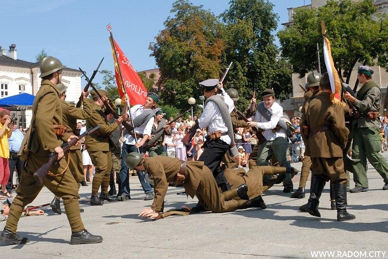 Radom. Inscenizacja bitwy z 1920r.
