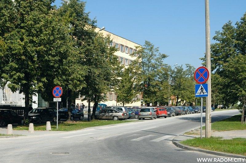 Radom. Ulica Kraszewskiego widziana z ul. Wernera.