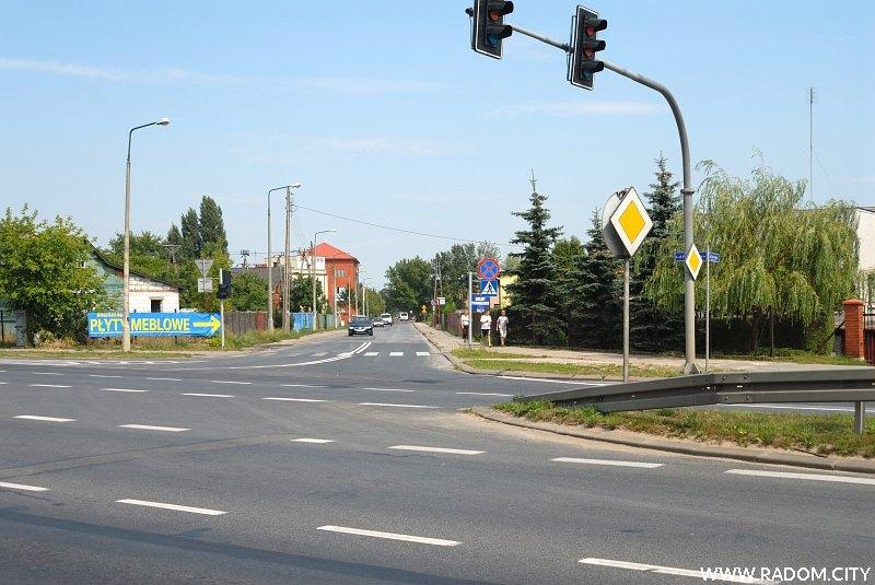 Radom. Ulica Ofiar Firleja, widok z ul. Warszawskiej.