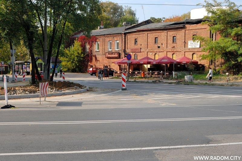 Radom. Skrzyżowanie 25 Czerwca/Struga.