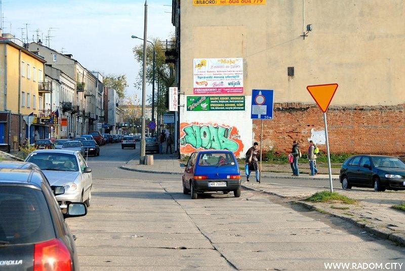 Radom. Przedłużenie ul. Kilińskiego (obecnie ul. Stańczyka), widok w kierunku ul. Witolda.