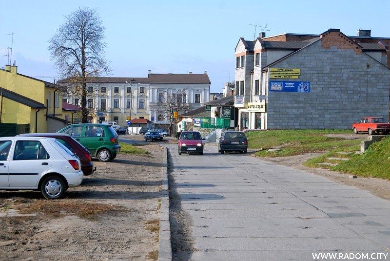 Radom. Przedłużenie ulicy Kilińskiego (obecnie ul. Stańczyka), widok w kierunku ul. Malczewskiego.