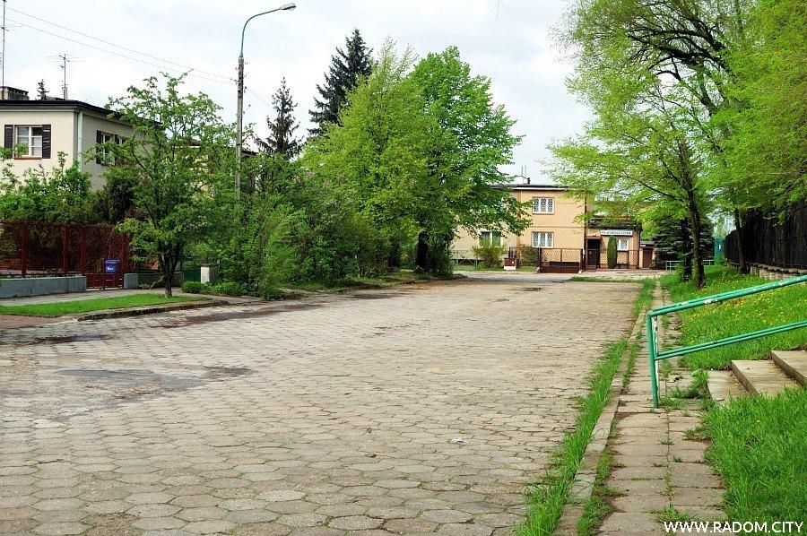 Radom. Ulica Jordana, widok w kierunku ul. Marusarzówny.