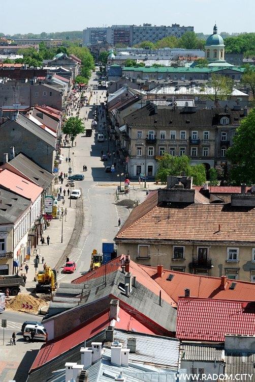 Radom. Widok z wieży fary - Żeromskiego.