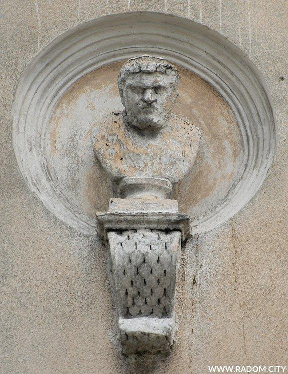 Radom. Narodówka - mędrzec pierwszy z lewej - Arystoteles?.