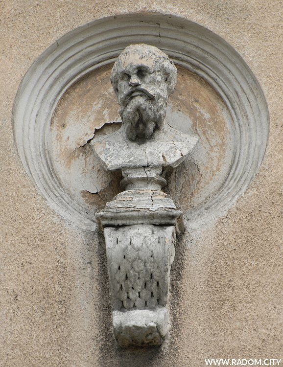 Radom. Narodówka - mędrzec drugi z lewej - Sokrates?.