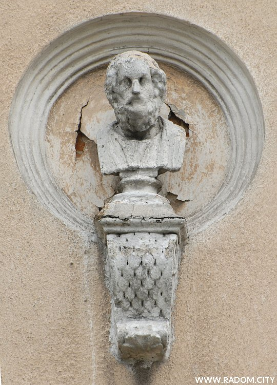 Radom. Narodówka - mędrzec trzeci z lewej - Platon?.
