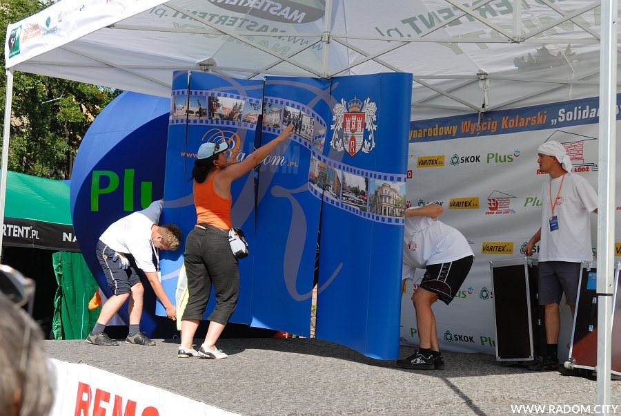 """Radom. Zakończenie trzeciego etapu 19 edycji Międzynarodowego Wyścigu """"Solidarności"""" i Olimpijczyków."""