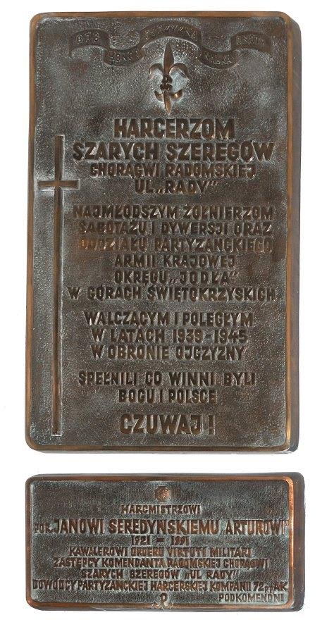 Radom. Tablica w kościele św. Wacława.