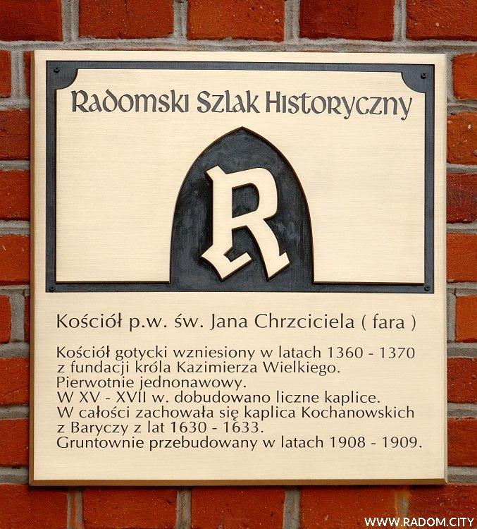 Radom. Radomski Szlak Historyczny - kościół św. Jana.