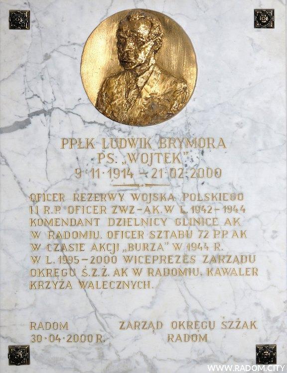 Radom. Tablica w kościele MBM przy Miłej.