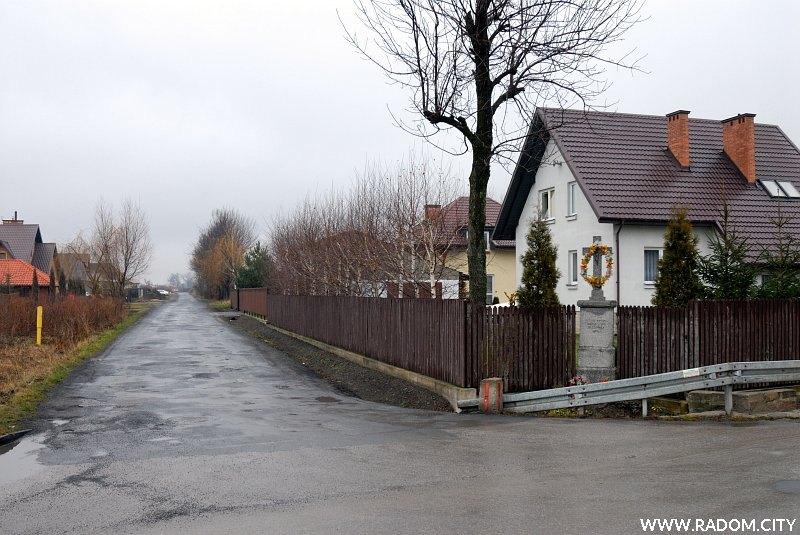 Radom. Ulica Reymonta widziana z ul. Skaryszewskiej.