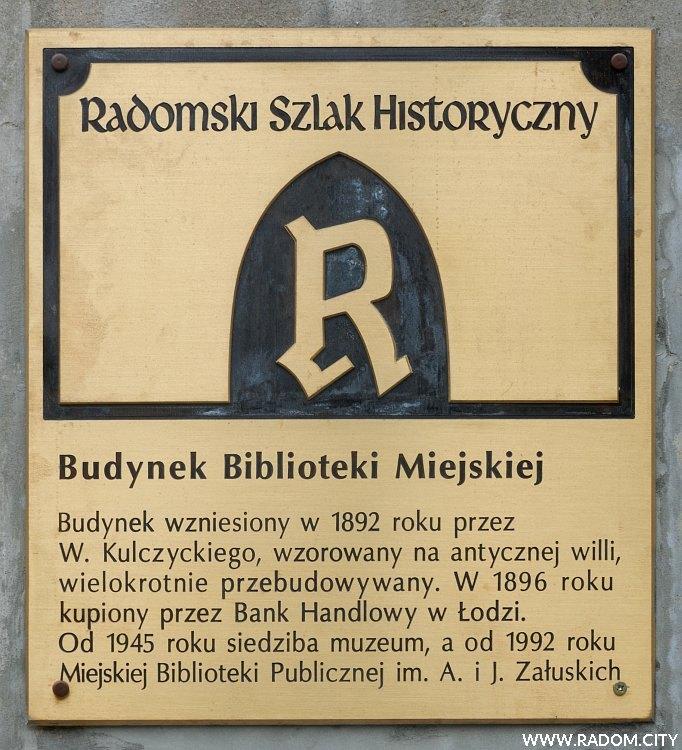 Radom. Radomski Szlak Historyczny - Biblioteka Miejska.