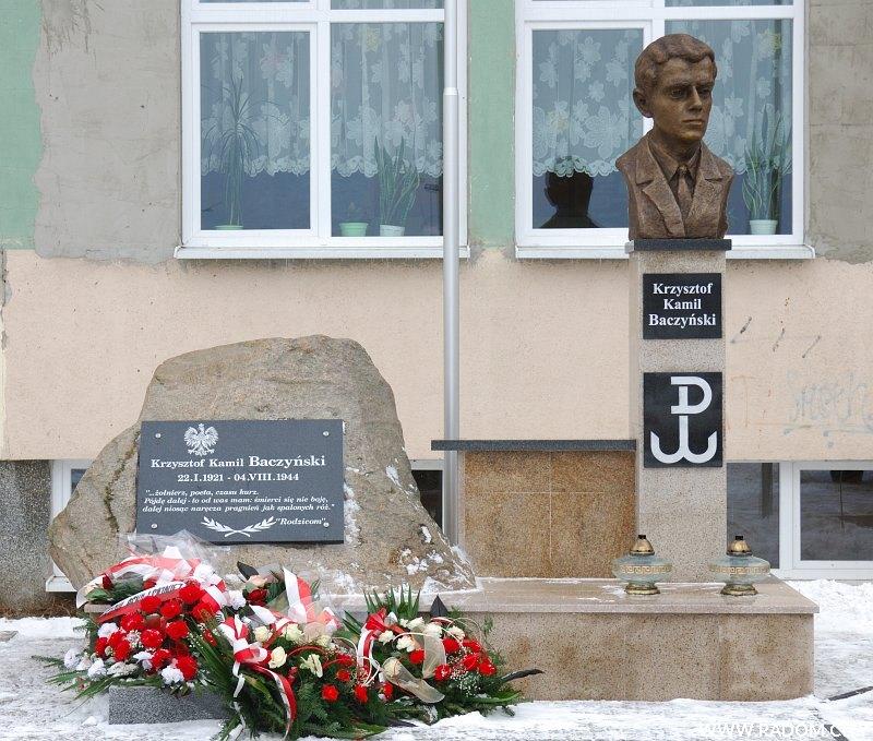 Radom. Pomnik Krzysztofa Kamila Baczyńskiego.