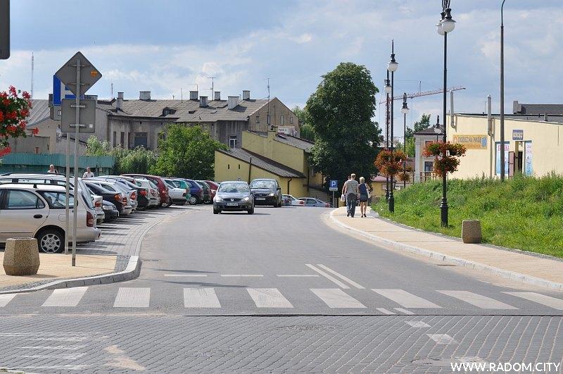 Radom. Ulica Stańczyka widziana z ul. Kilińskiego.