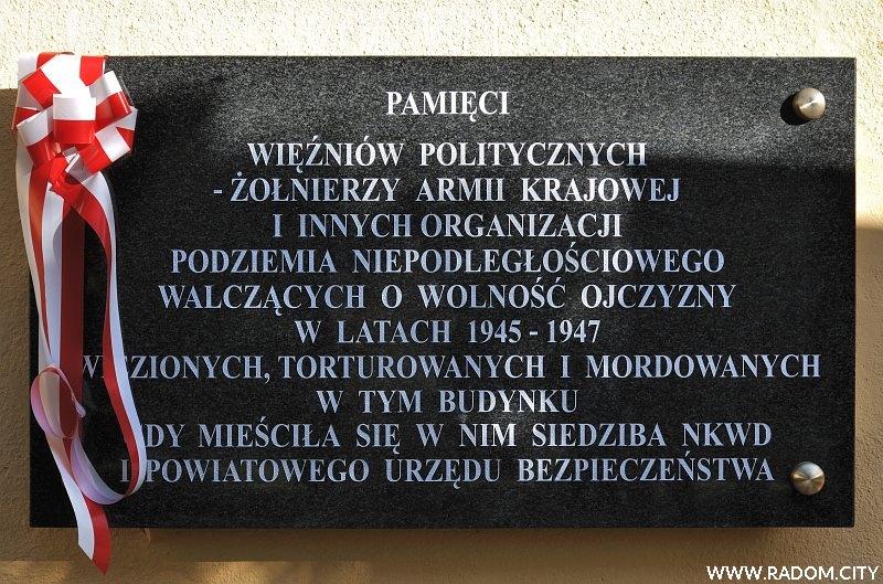 Radom. Tablica - Kościuszki 6.