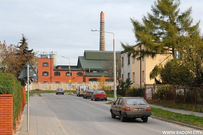 Radom. Ulica Kolberga, widok w kierunku ul. Szklanej.