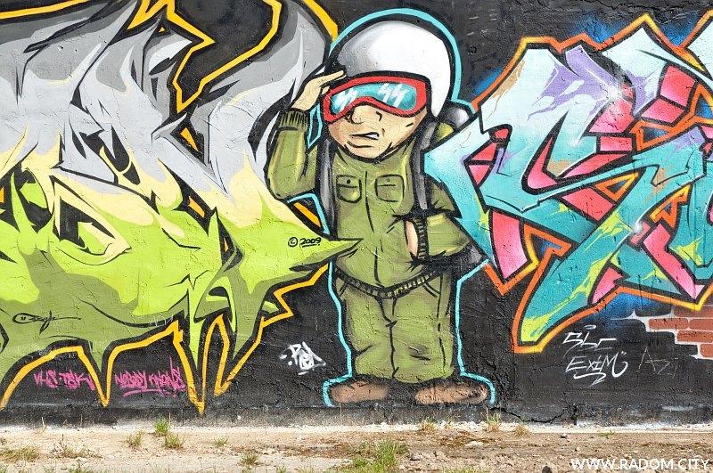 Radom. Graffiti/Waryńskiego.