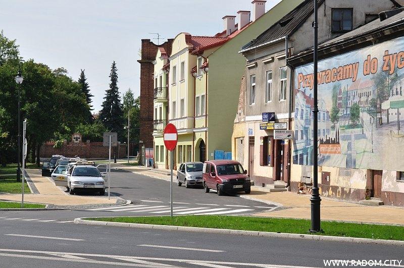 Radom. Ulica Grodzka widziana z ul. Wałowej.
