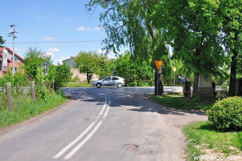 Radom. Ulica Słowackiego widziana z ul. Banacha.