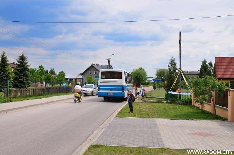 Radom. Końcowy odcinek ulicy Grota Roweckiego.