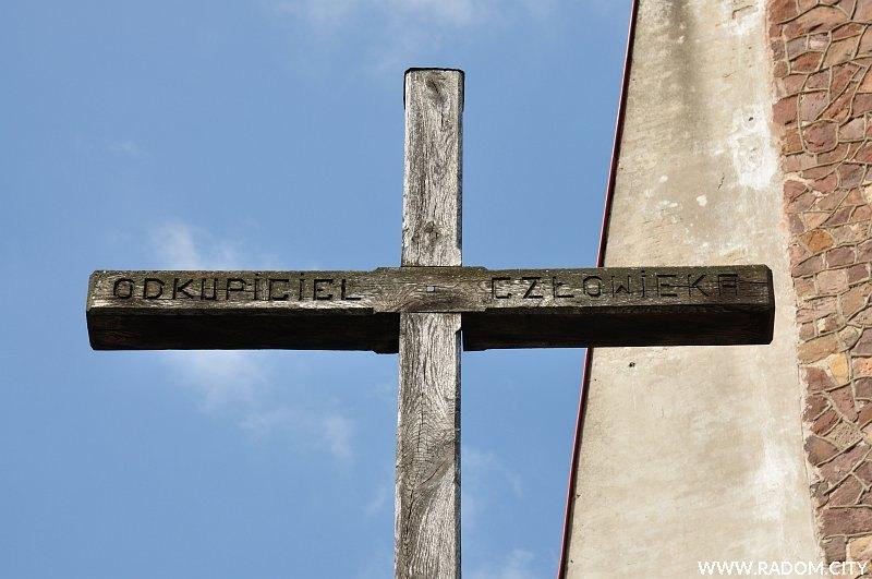 Radom. Krzyż misyjny - Kozienicka/kościół.
