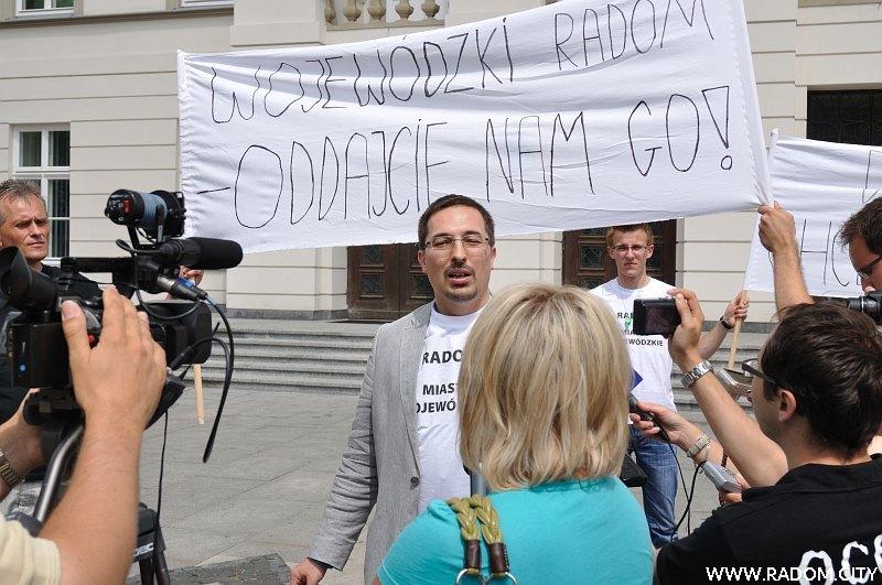 Radom. Happening w rocznicę likwidacji województwa radomskiego.