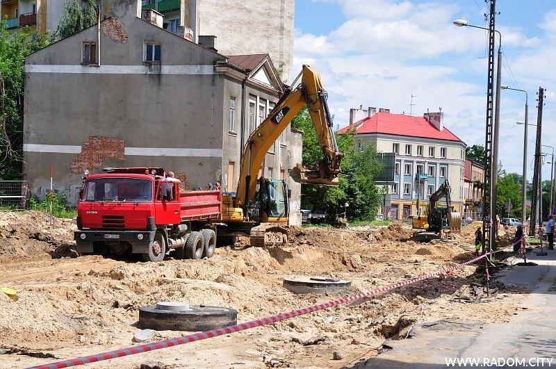 Radom. Ulica Andrzeja Struga.